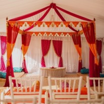 MARQUEE  WITH DRAPES