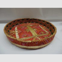 RED BANDHANI TRAY