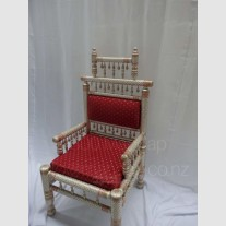 WHITE GOLD BRIDAL CHAIR