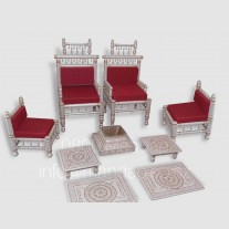WHITE GOLD BRIDAL CHAIR SET