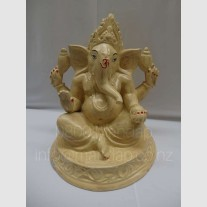 CREAM & GOLD GANESHA