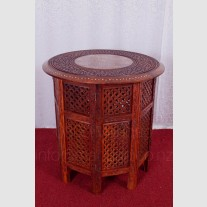 ROUND CARVED TABLE